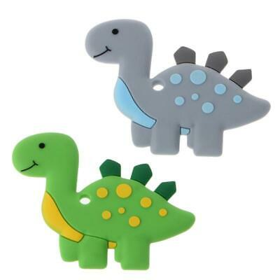 Lovely Dinosaur Silicone Teething Teether Baby Nursing Chewing Toys Kids Gift HD