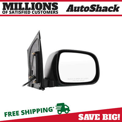 Textured Black Power Passenger Right Folding Side Mirror for 04-10 Toyota Sienna