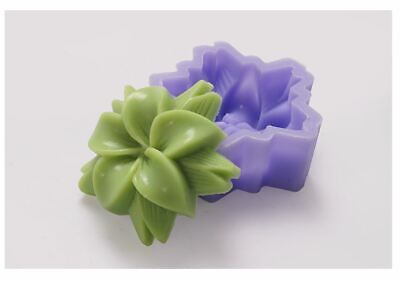 (Silicone Mould) Pinwheel Flower- Silicone soap Mould plaster Mold