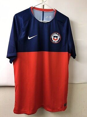 684ffc2db25 Nike Chile 2018 Short Sleeve Chile Men's Squad Training Jersey 893355-673