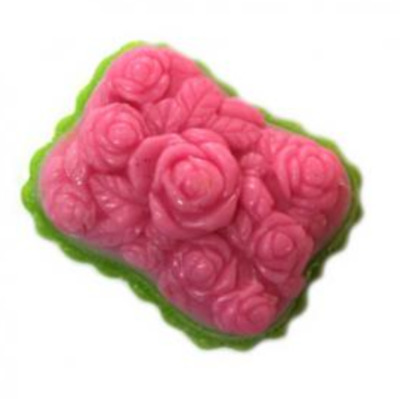 (Silicone Mould) 10-Bunch of Rose Silicone soap Mould plaster Mold