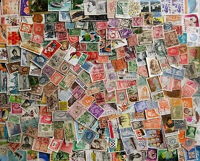 WORLD STAMPS mixed collection, BULK LOT No.3 x 200+, great mixture, used