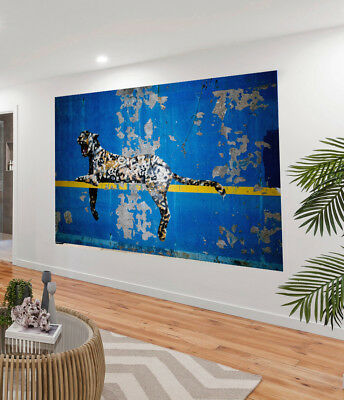Painting Graffiti Street Art Banksy cat leopard new york Print Canvas wall decor
