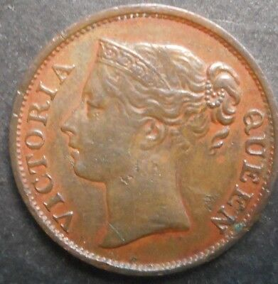 Straits Settlements East India Company  1845 Victoria  1/2  Cent  Better detail