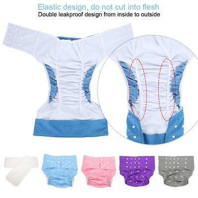 Large Adult Cloth Diaper Nappy Reusable Washable Incontinence Adjust  5 Colors s