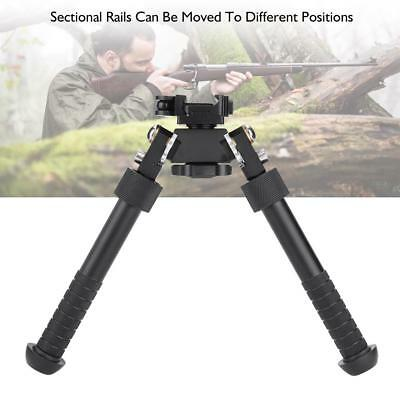 360-Degree Adjustable Precision Bipod Stand for Hunting Rifle 6-9inch with Mount