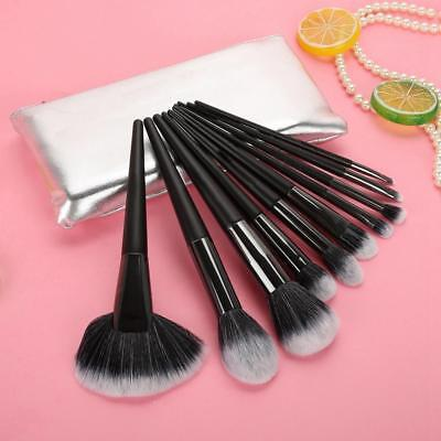 10PCS Pro Kabuki Make up Brushes Set Foundation Makeup Blusher Face Powder Brush