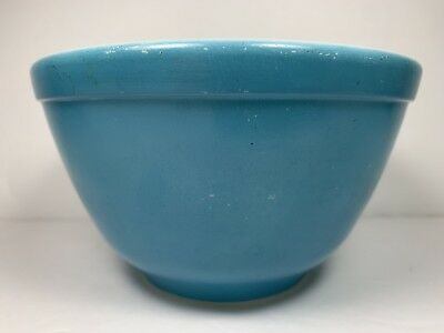 Vintage Pyrex Nesting Bowl Primary Blue #401 Small Mixing 1.5 Pint