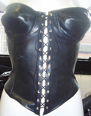 The Federation Rubber  Bustier Basque  Corset Fetish All Sizes