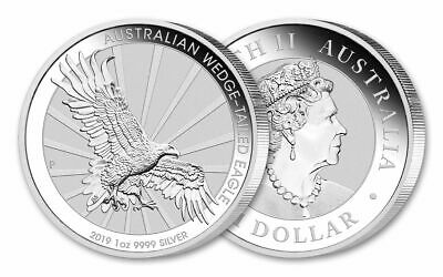 1 OZ dollar AUSTRALIA 2019 WEDGE TAILED EAGLE AQUILA ARGENTO SILVER ONCIA