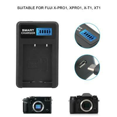 NP-W126 Battery Charger Single Slot USB Charging with LCD Screen for Fuji XPro1