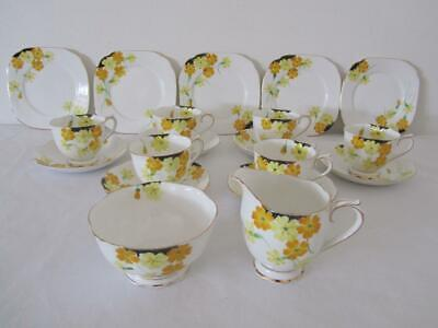 Rare Antique ROYAL ALBERT Hand painted Tea Set 1154 19 Pieces
