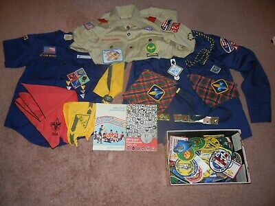 huge lot of Boy Scout jamboree patches + shirts & Girl /Cub Scout pins + shirts