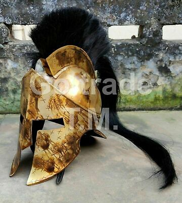 Medieval Armour 300 Roman Viking Mask Helmet KING LEONIDAS GREEK SPARTAN Helmet