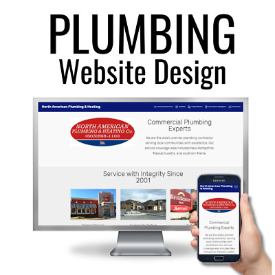 Plumbing Company Website Design | Plumber Web Design | 3 Professional Pages