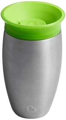 Munchkin Miracle 360 Degree Stainless Steel Sippy Cup, 10 oz/296 ml, Green