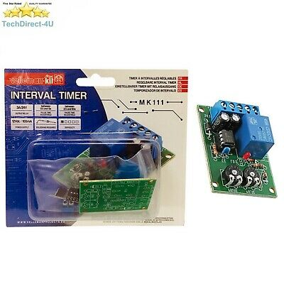 adjustable interval timer mk111 velleman kit £3 99 picclick ukvelleman mk111 interval timer module science diy projects educational