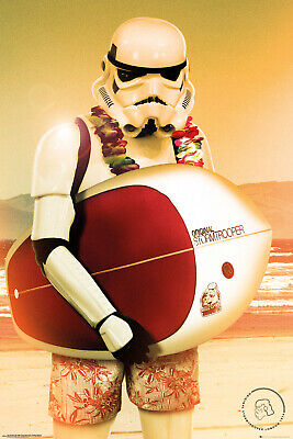 Stormtrooper Surf Maxi Poster Print 61x91.5cm24x36 inches