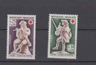 France 1967 Red Cross Complete Set Mint Never Hinged