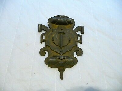 Antique French Brass Furniture Fittings Decorative Plaque Architectural Hardware