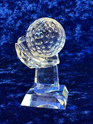 Golf Ball in Hand Glass Trophy Award Tournament Competition FREE engraving