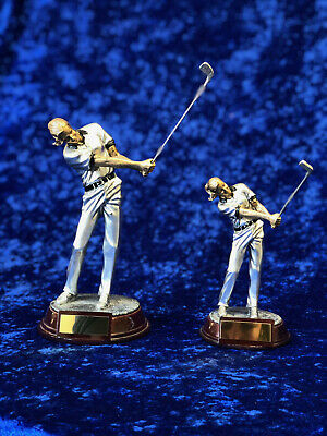 2 x Female Golfer Golf Trophy Award Tournament Competition FREE engraving