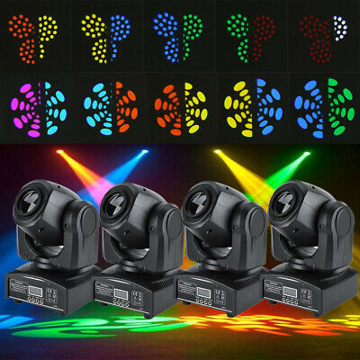 1-4 Pack 60W RGBW Stage Light LED Moving Head Lights Disco Party Stage Lighting