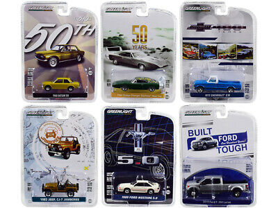 """Greenlight """"Anniversary Collection"""" Series 7, Set of 6 Cars 1/64 Diecast Mode..."""