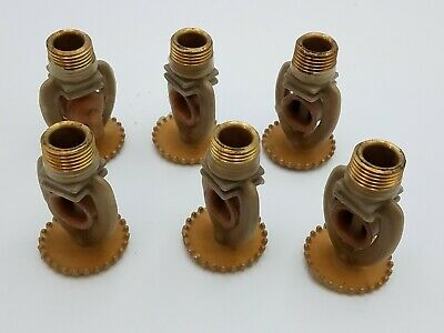 "6 Reliance SSU-3 Commercial Fire Sprinkler Head 458A Brass F950 1/2"" Corroproof"