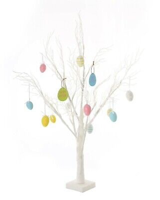 Jaymark Products 70cm White Deadwood Table Top Easter Twig Tree  24 LEDs