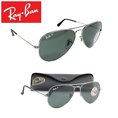 7fd0ed0c64 Ray Ban Aviator Gunmetal Grey Frame Classic Green - Polarised RB3025 004 58  - UK
