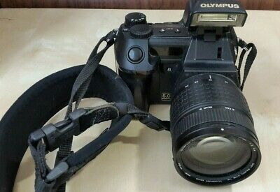 Olympus CAMEDIA E-20N 5.0MP Digital SLR Camera - Black body, lens, 32MB & strap
