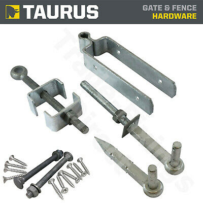Adjustable Strap Fieldgate Hinge Set To Bolt Hot Dipped Galvanised + Fixings