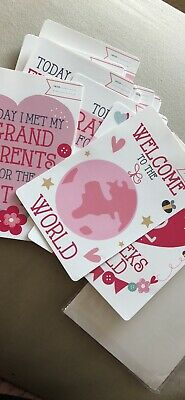 Baby Girl Memorable Moments Cards - Pack of 30