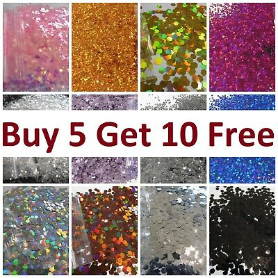 Glitter Chunky Cosmetic Craft Lip Body Hair Face Painting 15x 5g bags from £4.97