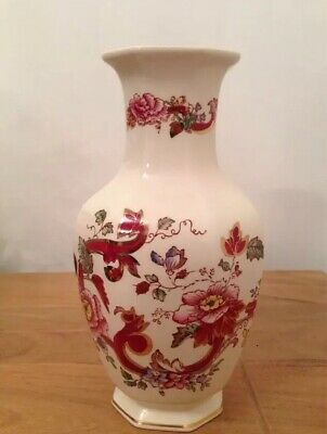 Masons Ironstone Red Mandalay Vase Mint Condition rare antique