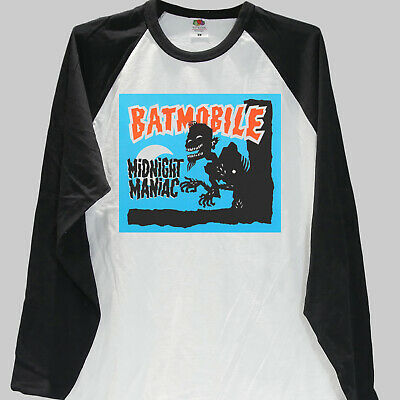 3d5274680 BATMOBILE PSYCHOBILLY T-SHIRT guana batz meteors BASEBALL LONG SLEEVE S-3XL