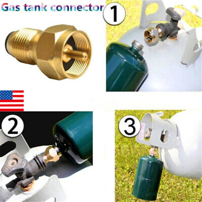 US Propane Refill Adapter Gas Cylinder Tank Coupler Heater For Camping Cooking