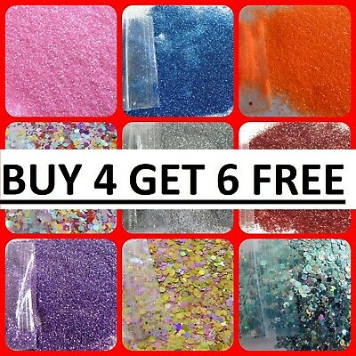 Glitter Fine Powder Dust Cosmetic Nail Holographic Metallic 15 bags from £5.94