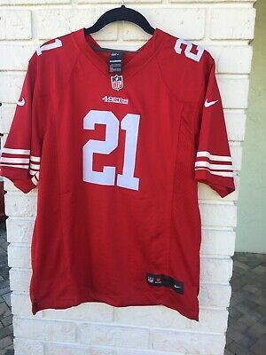 3096a512385 Women s Nike NFL Frank Gore 49ers Red 21 Jersey Size Small Short Sleeve