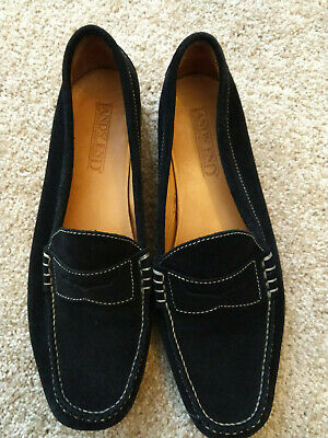 04c179c1e8f0 LANDS END Womens Penny Loafer Shoes 9.5 Suede Black