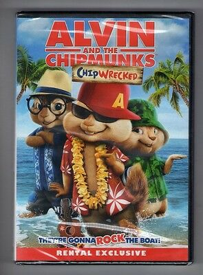 ALVIN AND THE CHIPMUNKS CHIPWRECKED new dvd JASON LEE JENNY SLATE DAVID CROSS