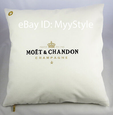 Moet Chandon Ice Imperial Champagne Outdoor Cushion Cover White - Gold Brand New