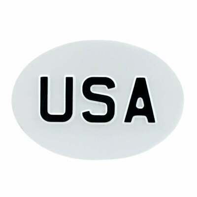 Jepson USA (United States) Country ID Plate for Classic Car White & Black