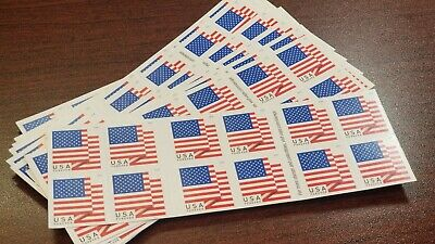 Book Of 20 U.s. Flag Usps First Class Forever Postage Stamps