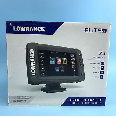 Lowrance Elite-7 Ti Touch Combo w/TotalScan Transom Mount Transducer & Navionics