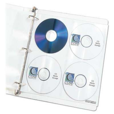C-Line® Deluxe CD Ring Binder Storage Pages, Standard, Stores 8 C 038944619484