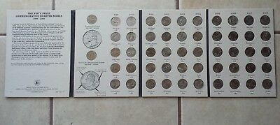 Complete 52 Coin 1999-2008 Fifty State Commemorative Quarter Series in Album