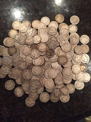 90% Silver Barber Quarters 40-Coin Roll Circulated $10 Face Value Full Dates