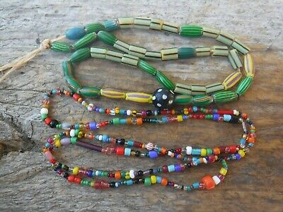 Lot Antique Vtg African Native Tribal Trade Multi Beads